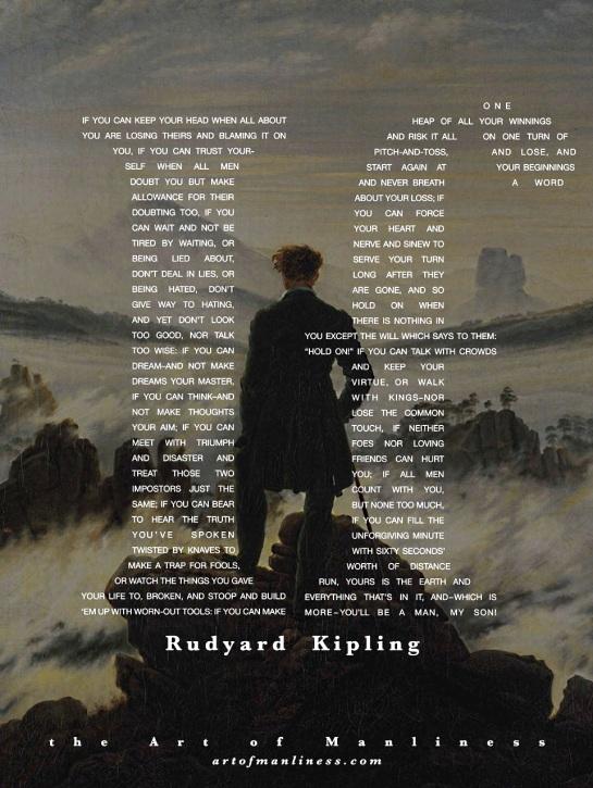 poetry being a man by kipling essay