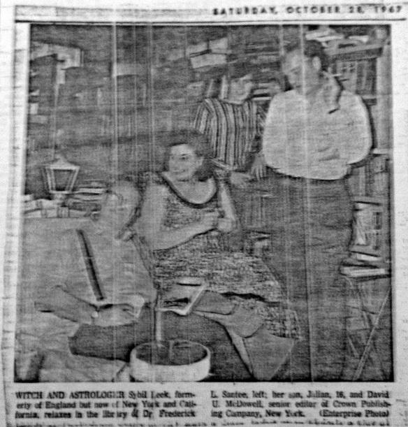 Sybil Leek visits Dr Frederick LaMotte Santee 1967 - 4