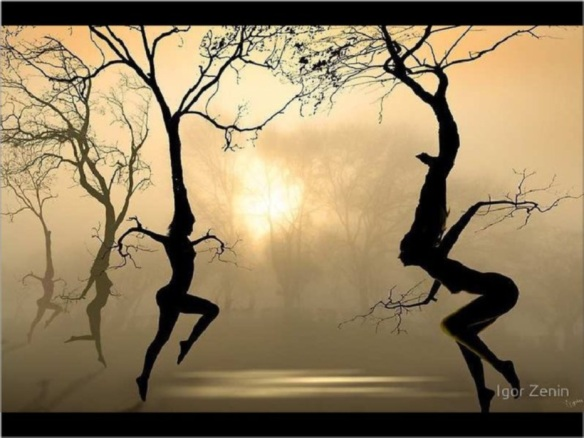 Dancing tree spirits