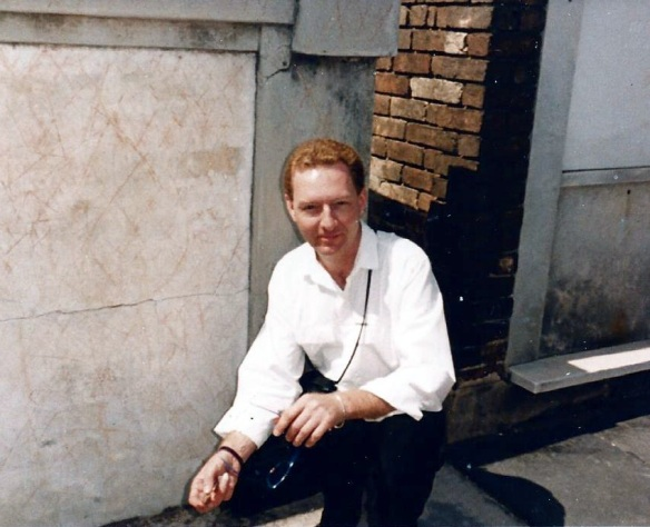 Lee at Marie Laveaux's Tomb 1990s