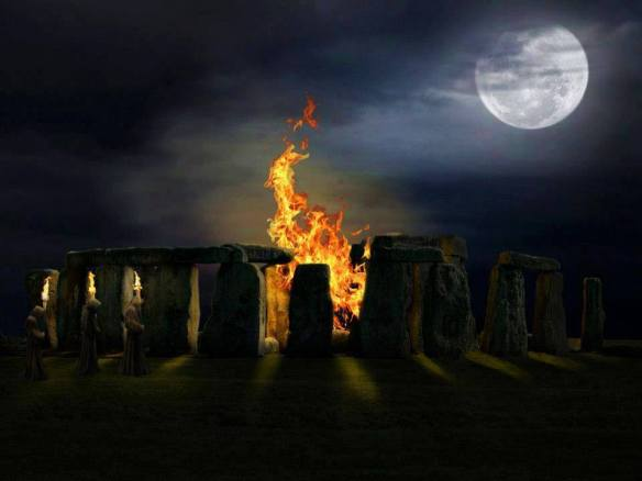 Moon Fire Stonehedge