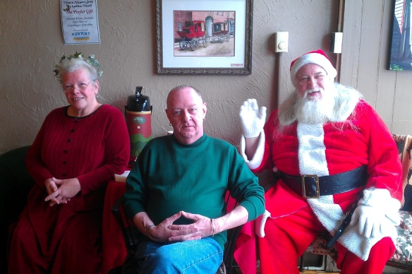 Santa and Ms Claus and Lee Yule 2013