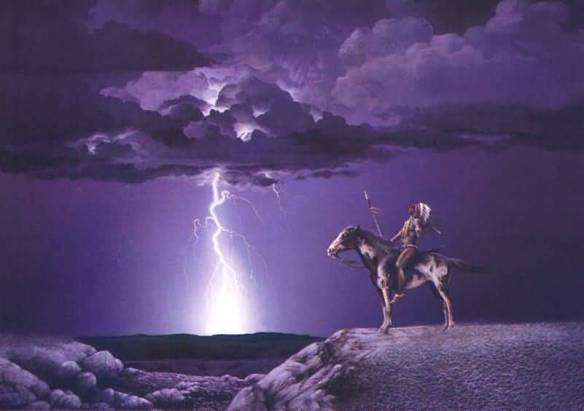 Lightening Indian Horse