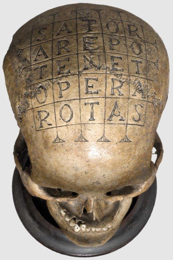SATOR Skull