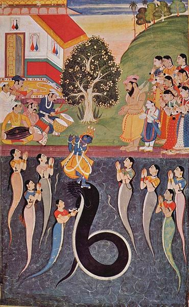 nagas worshipping krsna