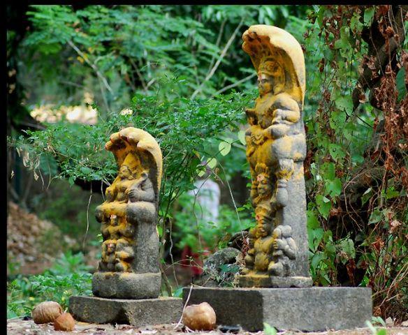 2 naga statues