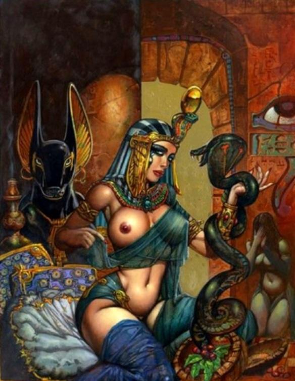 Anubis and Cleopatra