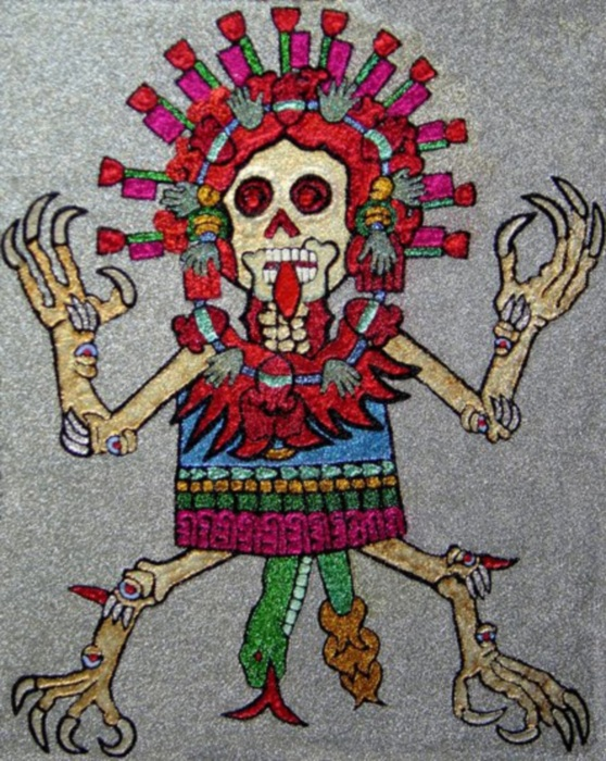 aztec skeleton dancer