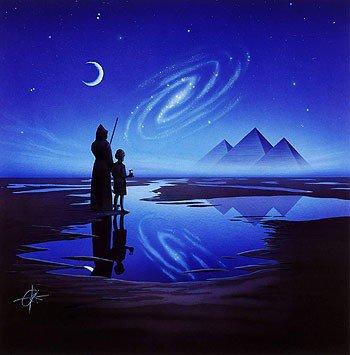 mage child moon galaxy