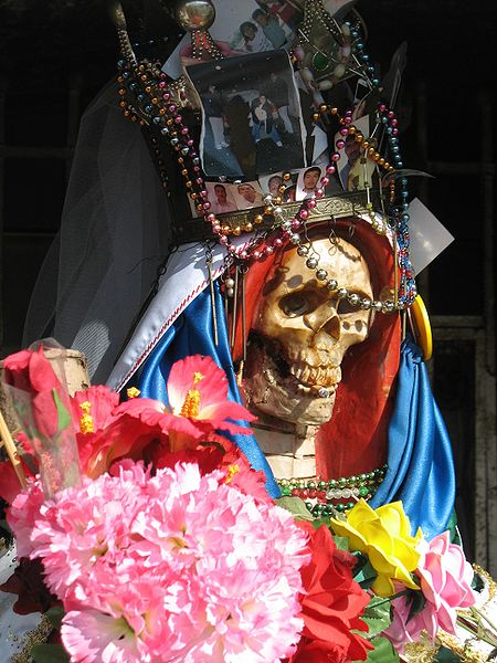 Santasima La Muerte decked out