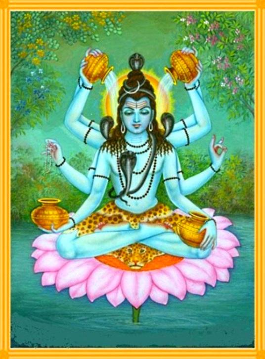Shiva 4 water pots