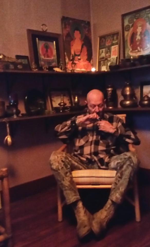 Lee Smokin in the Temple 17 Jan 2015 (1)