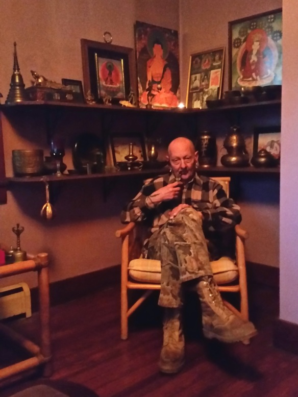 Lee Smokin in the Temple 17 Jan 2015 (2)