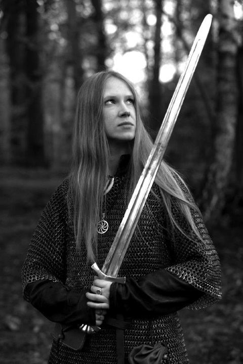Woman Sword BW